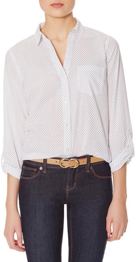 The limited polka dot button down shirt where to buy for Button down polka dot shirt