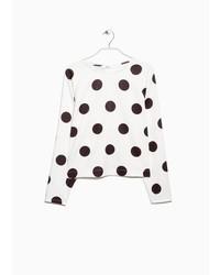 Polka dot print sweatshirt medium 156033