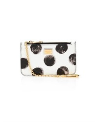 White and Black Polka Dot Clutch