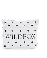 Wildfox couture signature dot canvas zip clutch medium 274795