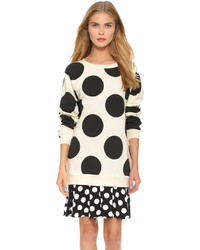 Boutique polka dot layer dress medium 280710