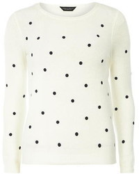 Dorothy Perkins Ivory Polka Dot Knitted Jumper