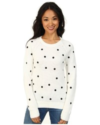 Lacoste Lve Long Sleeve Polka Dot Sweater