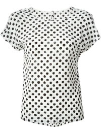 Dolce gabbana large polka dot print t shirt medium 314414