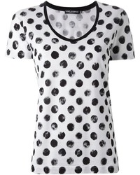 Dolce gabbana large polka dot print t shirt medium 314415
