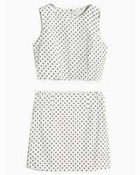Dots print crop top with pencil skirt medium 73896