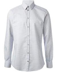 White and Black Polka Dot Dress Shirt