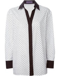 Emanuel polka dot contrast trim shirt medium 235866