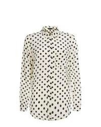 New Look Black Polka Dot Long Sleeve Shirt