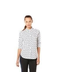 Original penguin long sleeve polka dot woven shirt medium 93567