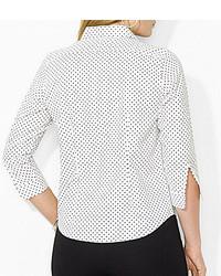 3a47faeb218 ... Lauren Ralph Lauren Plus Polka Dot Dress Shirt ...