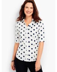 The perfect elbow sleeve shirt polka dots medium 6860674