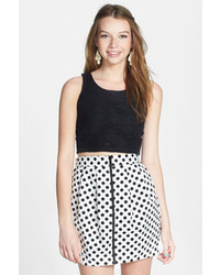 Painted Threads Polka Dot Pleat Skater Skirt