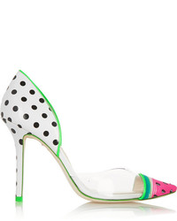 Webster Sophia Jessica Watermelon Patent Leather And Pvc Pumps