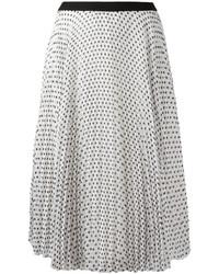I'M Isola Marras Polka Dot Pleated Skirt
