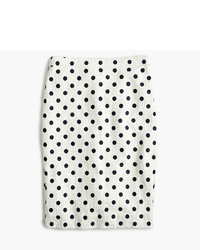 J.Crew Petite Pencil Skirt In Polka Dot Textured Tweed