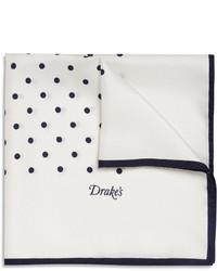 White and Black Polka Dot Pocket Square
