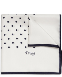 Drake's Polka Dot Silk Pocket Square
