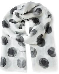 Dolce & Gabbana Large Polka Dot Print Scarf