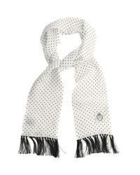 Polka dot silk evening scarf medium 27364