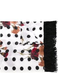 Twin-Set Floral Polka Dot Scarf