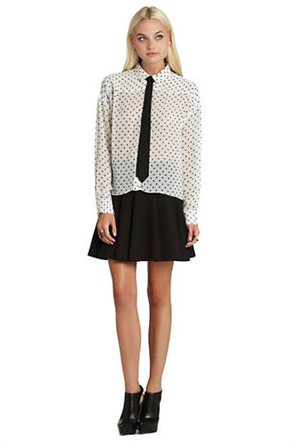 Bcbgeneration Polka Dot Blouse With Tie Where To Buy