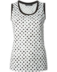 Large polka dot print tank top medium 174986