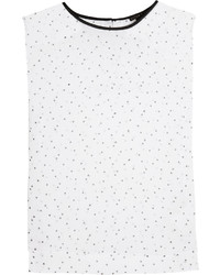Polka dot print chiffon top medium 564995
