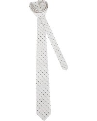 White and Black Polka Dot Tie