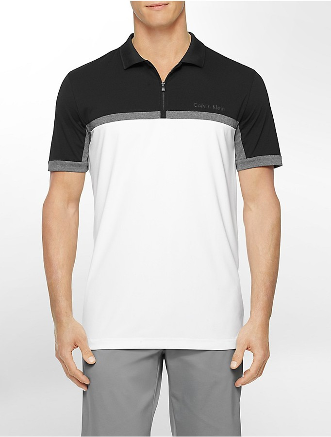 8385cc405 ... Calvin Klein Performance Classic Fit Colorblock Pique Polo Shirt ...