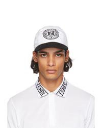Fendi Black And White Joshua Vides Edition Baseball Cap