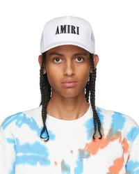 Amiri White Core Logo Trucker Cap