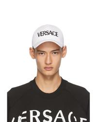 Versace White Logo Cap