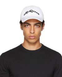 Alexander McQueen White Multicolor Baseball Cap