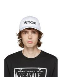 Versace White Vintage Logo Cap