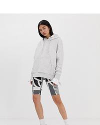 Weekday Abstract Print Legging Shorts In Grey