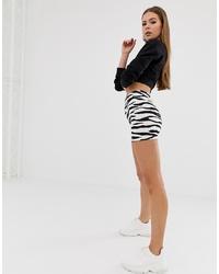 ASOS DESIGN Shorter Legging Short In Zebra Print