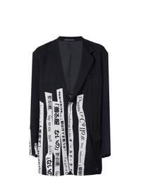 Yohji Yamamoto Slogan Blazer Jacket