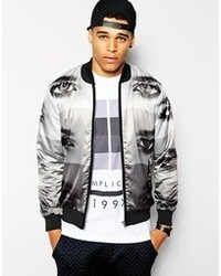 Religion Bomber Jacket With Graphic Print White | Where to buy