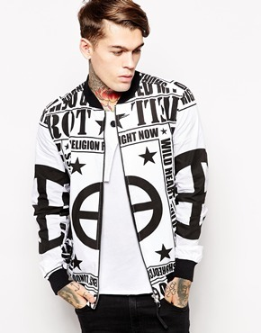 Religion Bomber Jacket With Graphic Print White | Where to buy ...
