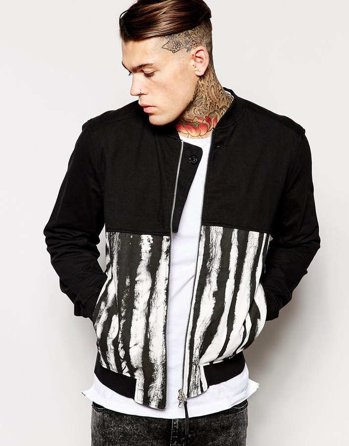 Religion Cut And Sew Printed Bomber Jacket | Where to buy & how to ...