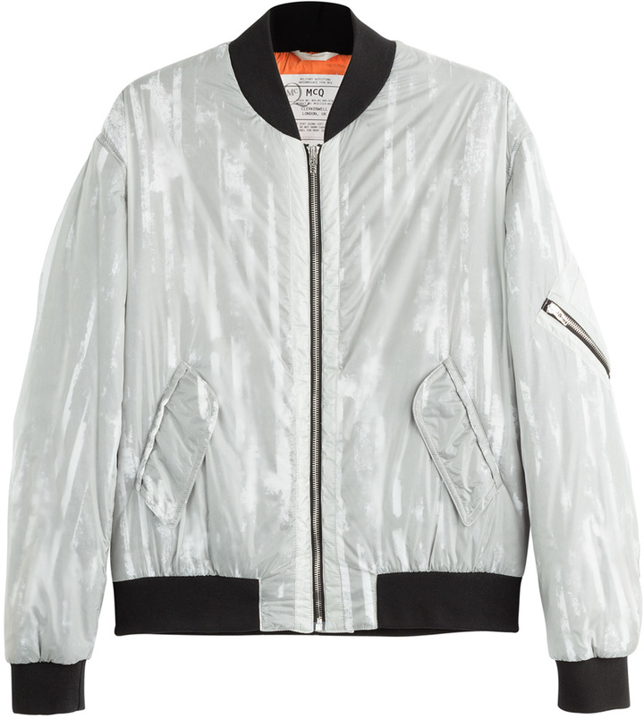 ... Jackets McQ by Alexander McQueen Mcq Alexander Mcqueen Striped Bomber  ...
