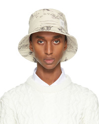 Thom Browne Off White Toile Print Bucket Hat