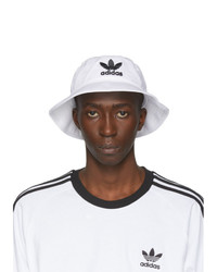 adidas Originals White And Black Adicolor Bucket Hat