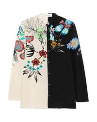 Etro Floral Print Silk Shirt