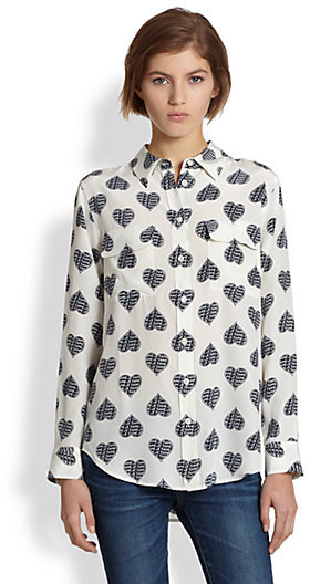 652f5d24f1489f Equipment Slim Signature Je Taime Heart Print Shirt, $258 | Saks ...