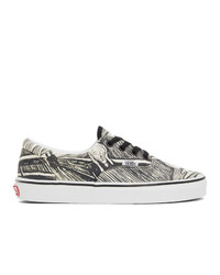 Vans Off White And Black Moma Edition Edvard Munch Sneakers