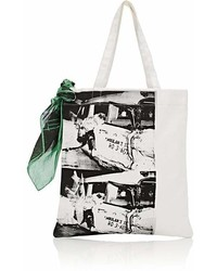 Calvin Klein 205w39nyc Graphic Canvas Tote Bag