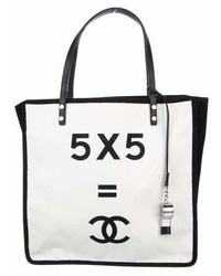 Chanel 5x5 Canvas Tote