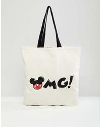 Bershka Mickey Mouse Logo Shopper